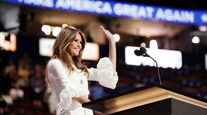 Фото миссис Мелания Трамп на выборах