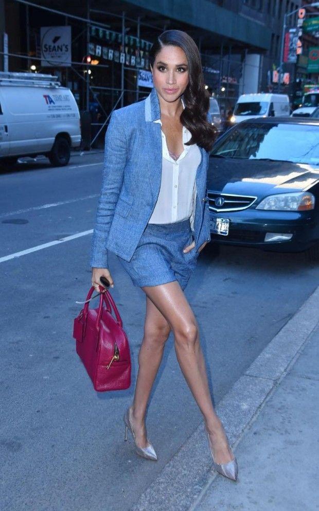 актриса и модель Меган Маркл на фото
