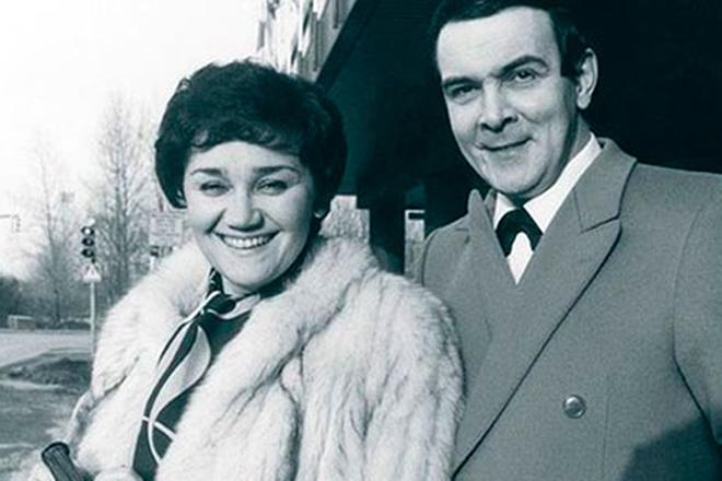 Тамара Синявская и ее муж Муслим Магомаев в фото